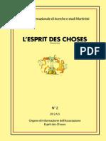 L'Esprit Des Choses n. 2 2012