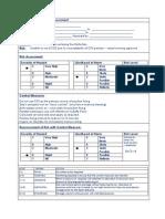 Passage Planning Risk Assessment Sample