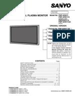 Sanyo Plasma Monitor Pdp42wv1 Service Manual
