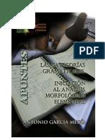 Las categorías gramaticales. Iniciación al análisis morfológico elemental