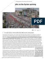 The 5 Biggest Myths on the Syrian Uprising