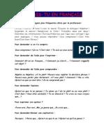 Phrases pour dire en français