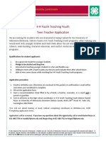YTY Teen Teacher Application