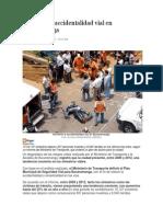 Aumentó la accidentalidad vial en Bucaramanga