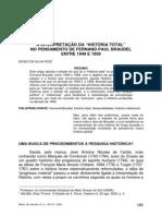 128182551 Diogo Da Silva Roiz a Inerpretacao Da Historia Total No Pensamento de Fernand Paul Braudel Entre 1949 e 1958 PDF
