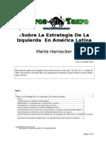 Hardnecker, Marta - Sobre La Estrategia de Izquierda en America Latina