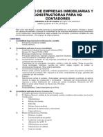 Syllabus Contabilidad de Empresas Inmobiliarias y Constructoras Para No Contadores Setiembre 2009