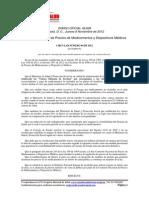 Circular 04 de 2012 CNPM Incorpora Medicamentos a Control Directo de Precio
