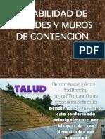 ESTABILIDAD DE TALUDES Y MUROS DE CONTENCIÓN