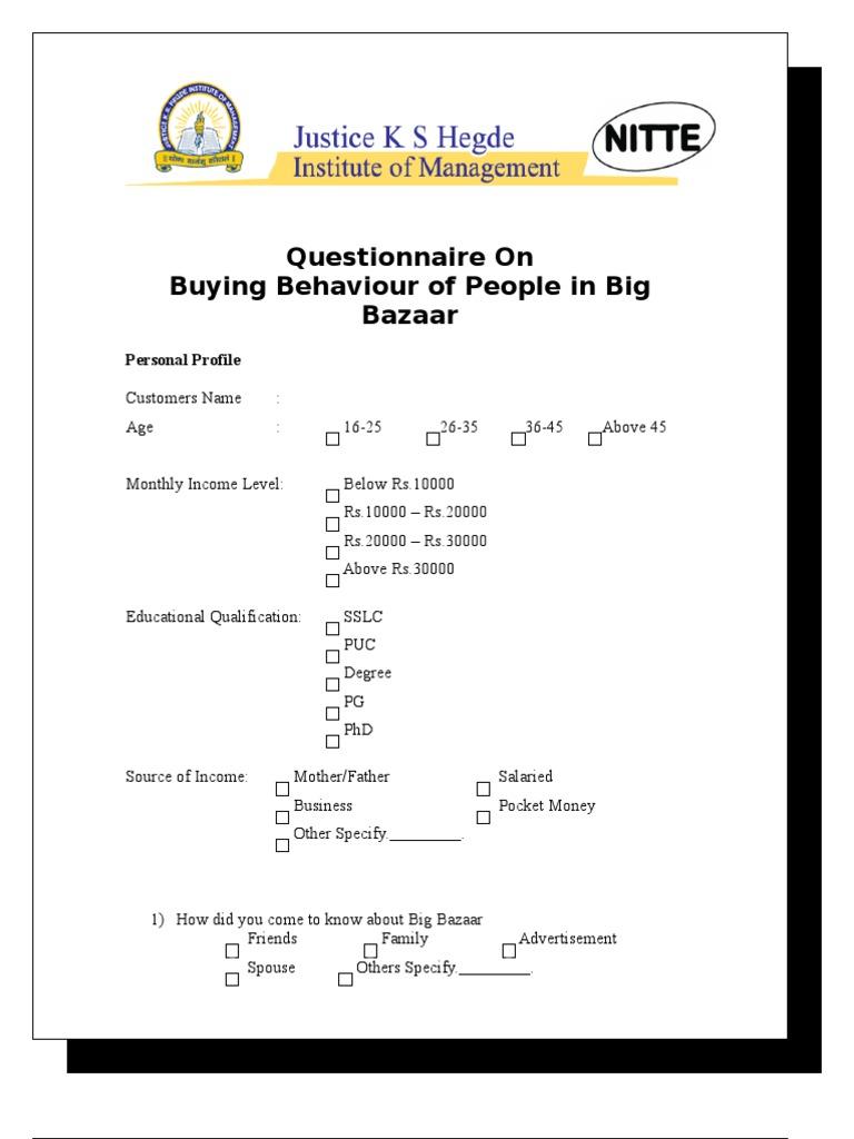 Review of literature on customer satisfaction in big bazaar