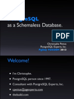 PostgreSQL as a NoSQL database