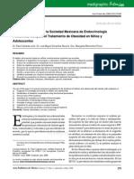 Recomendaciones de la Sociedad Mexicana de Endocrinología Pediátrica, A.C. para el Tratamiento de Obesidad en Niños y adolescentes