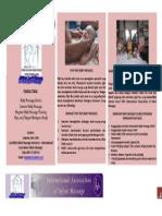 Baby Massage Brochure