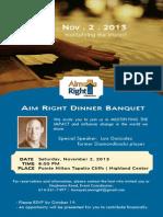 2013 Aim Right Banquet
