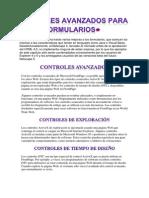 Controles Avanzados Para Formularios