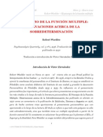 Robert Waelder - EL PRINCIPIO DE LA FUNCIÓN MULTIPLE