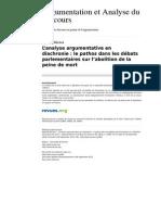 Aad 482 1 l Analyse Argumentative en Diachronie Le Pathos Dans Les Debats Parlementaires Sur l Abolition de La Peine de Mort