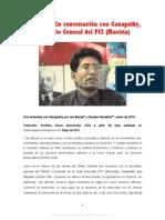 85853921 Jan Myrdal y Gautam Navlakha Entrevista a Ganapathy