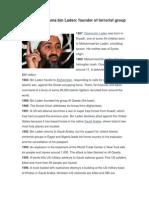 timeline of osama bin laden