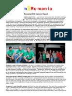 Jim 2 Romania 2013 Summer Report