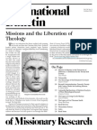 Bonk, Jonathan, Titus Presler, Et Al (2010) Missions and the Liberation of Theology (International Bulletin of Missionary Research, 34.4, October 2010)