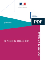 La Mesure Du Declassement en France