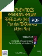 Overview Proses Penyusunan Rencana Pengelolaan Dan Rencana Aksi
