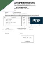 Alat Pendukung RPJMDES Tahap I 2010