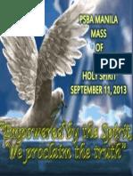 Holy Spirit mass guide