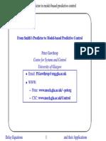 From Smith's Predictor to Model-Based Predictive Control