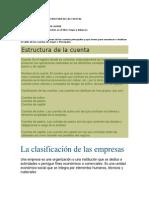 CLASIFICACIÓN POR LA ESTRUCTURA DE LAS CUENTAS