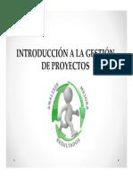 Unidad I Gestion de Proyectos