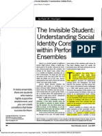 identity and the invisible student