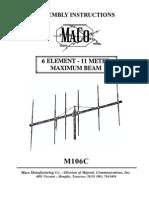 Maco 6 Element Beam Manual