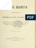 Captive Secrets a Collection of Formulas for General Use 1895
