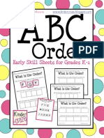 ABC Order Freebie Complete Set