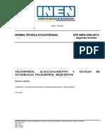 2266-2 Transporte, Almacenamiento y Manejo de Materiales Peligrosos