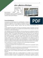 Module solaire photovoltaique