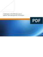 Master Data Mgmt Techniques 106161
