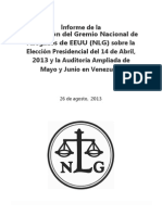 Informe NLG 2013 Elección Venezuela