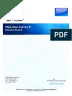 Step One Survey II