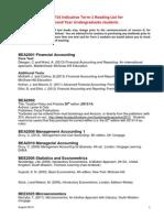 UG2 Term1 Comp Modules - Reading List 2013