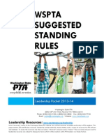 standing rules 2013-14