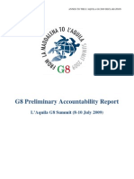 G8 Summit Preliminary Accountability Report 8.7.09,0