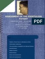 Prostho IV-Slides 2- Assessment of the Edentulous Patient