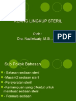 i. Ruang Lingkup Steril