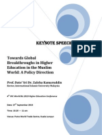 Towards Global Breakthroughs in Higher Education in the Muslim World
