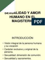 Sexualidad y Amor Humano Magisterio