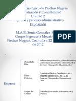 Expo Empresa y Proceso Administrativo