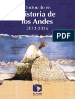 Programa PhD Historia Andina - FlacsoEc